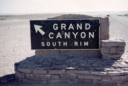 good quality scan of South Rim sign