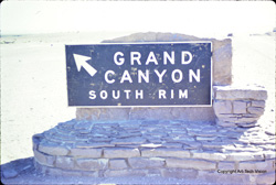 Poor quality scan of South Rim sign